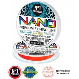 Леска монофильная Balsax Nano Neon Orange 30 м