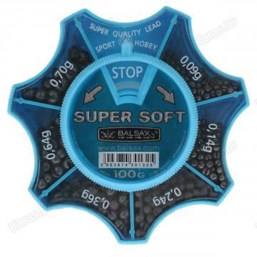 Набор грузил Balsax Super Soft 100г, 0.09-0.70г