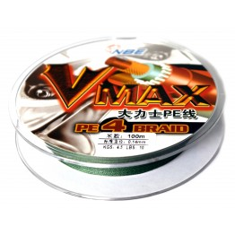 Леска плетёная NBE Vmax PE X4 100 м