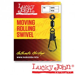 Вертлюги c застежкой LH скользящие Lucky John Moving Rolling Swivel