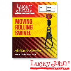 Вертлюги c застежкой BH скользящие Lucky John Moving Rolling Swivel