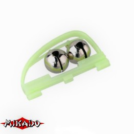 Колокольчик Mikado AMR02-1198-14 двойной с гнездом под светлячок