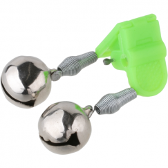 Колокольчик Mikado AMR02-1199-16 двойной с пластиковым зажимом и гнездом под светлячок