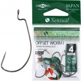 Крючки Mikado Sensual Offset Worm I