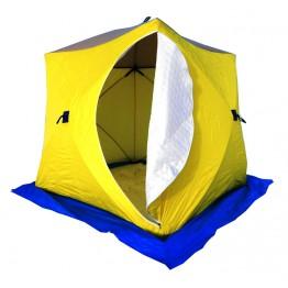 Палатка зимняя СТЭК КУБ 3 трехслойная (2.2х2.2х2.05м)