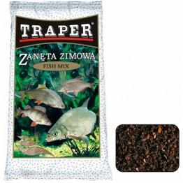 """Прикормка зимняя Traper Fish Mix """"Универсальная"""" (черная) 0.75 кг"""