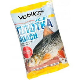 "Прикормка зимняя Vabik Ice Roach Bloodworm ""Плотка Матыль"" (тёмно-красная) 0.75 кг"