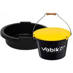 Ведро для прикормки Vabik 25 л с тазом и крышкой