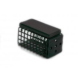 Кормушка фидерная Wirek FD, квадратная с дном, 25x25 мм, длина 40 мм (20г)
