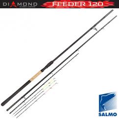 Удилище Фидерное SALMO Diamond FEEDER 120, графит, 3,9 м, тест: 120 гр , 280 г