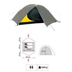 Туристическая 2-х местная палатка TRAMP Colibri