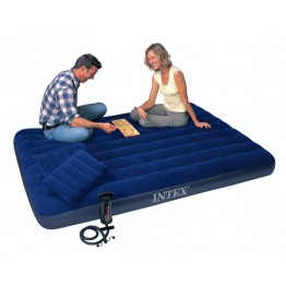 Надувной матрас Intex 68765 King Downy Royal Blue 152х203х22 см