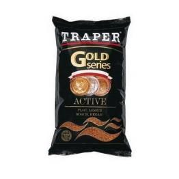 Прикормка TRAPER  GOLD 1 кг Active (коричневый, черный)