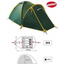 Туристическая 3-ёх местная палатка TRAMP Space 3