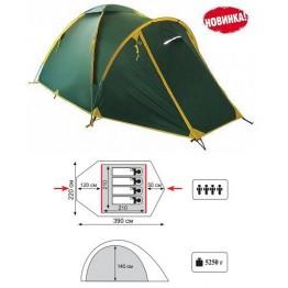 Туристическая 4-ёх местная палатка TRAMP Space 4
