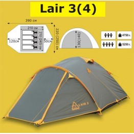 Туристическая 4-х местная палатка TRAMP Lair 4