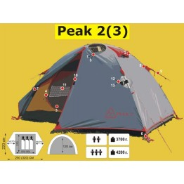 Экспедиционная 3-х местная палатка TRAMP Peak 3