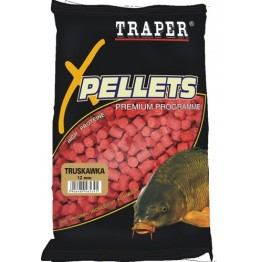 Прикормка TRAPER PELLETS MIX  (Клубника) 8+12+16 мм/1 кг