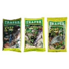 Прикормка TRAPER популярная 1 kг (коричневый)