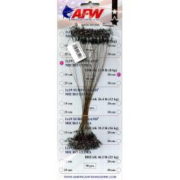 Стальной поводок AFW 1x19 Surfstrand Micro Ultra оснащён вертлюгом и застёжкой (1 шт.)