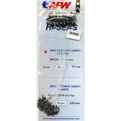 Флюорокарбоновый поводок AFW Hi-Sea Fluorocarbon Leader оснащён вертлюгом и застёжкой (1 шт.)