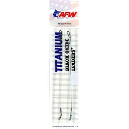 Титановые поводки AFW Titanium Black Oxide Leaders оснащённые вертлюгом и застёжкой (2 шт.)