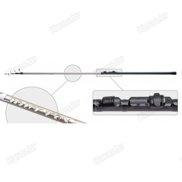Удочка с кольцами  Akara Light Fox. 4 м. углеволокно. тест: 5-25 г. 180 г