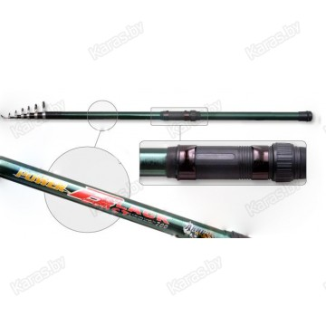 Удочка с кольцами Akara Power Black. 4 м. стекловолокно. тест: 20-40 г. 220 г