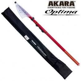 Удочка с кольцами Akara Optima Compact 4.4 м, углеволокно, тест: 10-30 г, 240 г