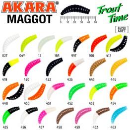 "Силиконовая приманка Akara Trout Time MAGGOT 1.6"" Cheese"