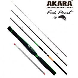 Удилище фидерное Akara L17033 Fish Point TX-20, углеволокно, 3.3 м, тест: 40-80-120 г, 320 г