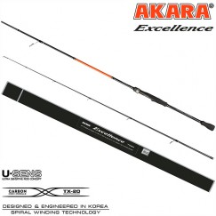 Спиннинг Akara Excellence MH 902, углеволокно, штекерный, 2.7 м, тест: 8-35 г, 200 г