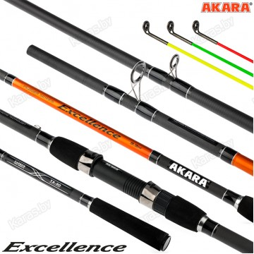 Удилище фидерное Akara Excellence Feeder TX-30, композит. 4.2 м, тест: 90-120-150 г, 304 г