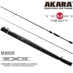 Спиннинг Akara Teuri Heavy H, углеволокно, штекерный, 2,4 м, тест: 30-80 г, 155 г
