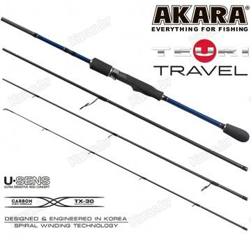Спиннинг Akara Teuri Travel L, углеволокно, штекерный, 2,28 м, тест: 1-12 г, 98 г
