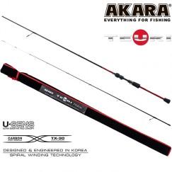 Спиннинг Akara Teuri ULS602 TX-30, углеволокно, штекерный, 1,83 м, тест: 0,6-7 г, 75 г