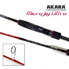 Спиннинг Akara SL1004 Micro Jig Ultra 762UL-S TX-30, углеволокно, штекерный, 2,3 м, тест: 0,5-6 г, 116 г