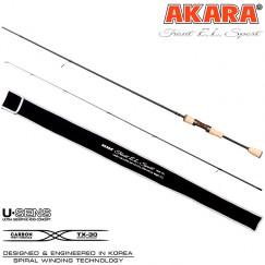 Спиннинг Akara Trout EL Sport UL, углеволокно, штекерный, 1,98 м, тест: 0,5-4,5 г, 77 г
