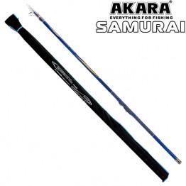 Удочка с кольцами Akara Samurai 4 м, углеволокно, тест: 10-30 г, 180 г