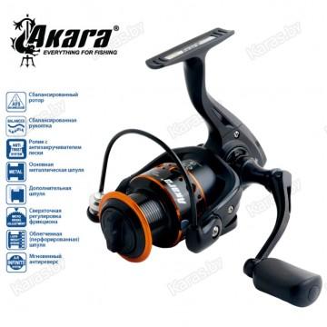 Безынерционная катушка Akara Black Hunter BHF1000. 9 ш.п. + 1 р.п.