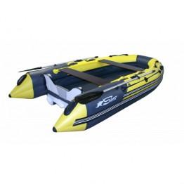 Надувная 5-местная ПВХ лодка Reef Скат-Тритон 350 (Надувное дно, пластиковый транец)
