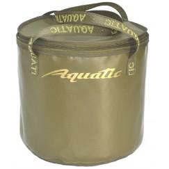 Ведро мягкое Aquatic В-04Х с крышкой и ободом, 30л (33х34см)