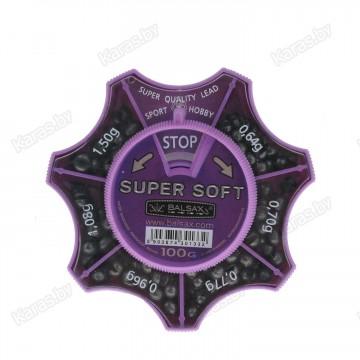 Набор грузил Balsax Super Soft 100г, 0.64-1.50г