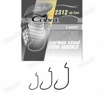 Крючки офсетные Cobra L-Worm 2312NSB-***