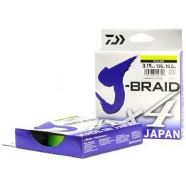 Леска плетёная Daiwa J-Braid x4 Yellow 135 м