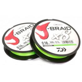 Леска плетёная Daiwa J-Braid x8 Chartreuse 150 м
