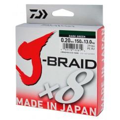 Леска плетёная Daiwa J-Braid x8 Dark Green 150 м