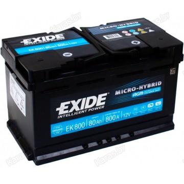 Аккумулятор для лодочного мотора Exide Hybrid AGM EK800 80Ah
