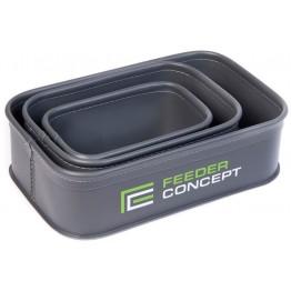 Набор емкостей для прикормки и насадки Feeder Concept EVA 3 BOX SET