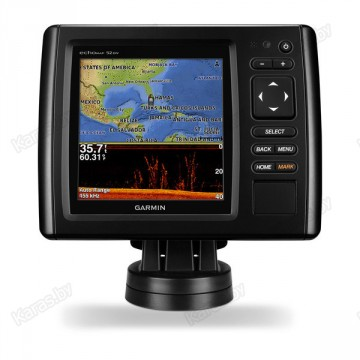 Эхолот Garmin echoMap CHIRP 52DV 5 дюймов (сканер DownVü, GPS, ГЛОНАСС)